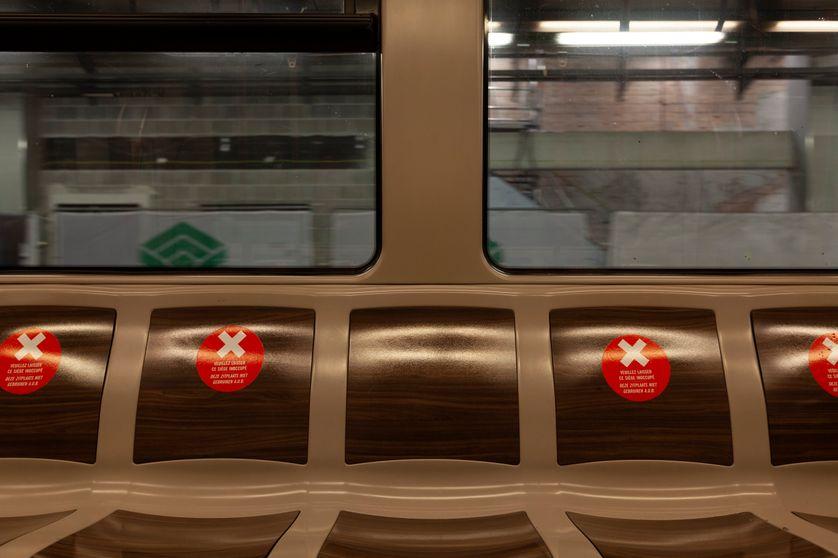 Le métro bruxellois,  13 avril 2020